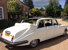 Classic Daimler wedding car hire in Maidstone