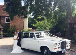 Classic Daimler for wedding hire in London