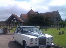 Ivory Daimler for weddings in Liphook
