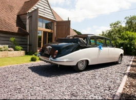 Classic convertible wedding car for hire in Portsmouth