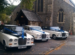 Classic Daimler wedding car for hire in Portsmouth