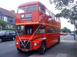 Classic Routemaster Bus for weddings in London