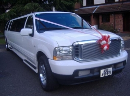 Ford Excursion Stretch Limousine for weddings in London