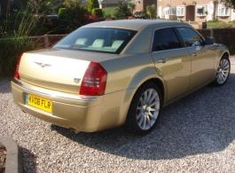 Modern Gold Chrysler for weddings in Folkestone