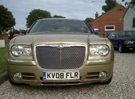 Chrysler wedding car hire in Canterbury, Kent