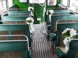Vintage 1956 bus for wedding hire in Bromsgrove