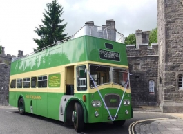 Open top bus for weddings in Southsea