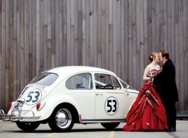 VW Beetle wedding car in London