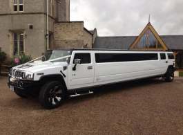 White Hummer Limousine for weddings in London