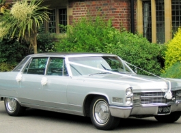 Classic American Cadillac for weddings in Portsmouth