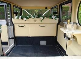 Vintage Silver wedding car in Ascot