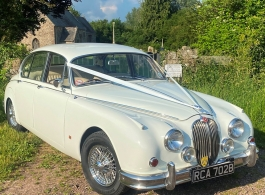 Jaguar MK2 for weddings in Newport