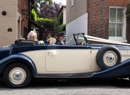 Vintage Jaguar convertible for wedding hire in Newbury