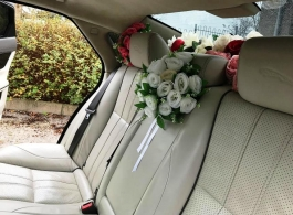 White XJ Jaguar for weddings in Woolacombe