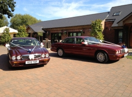 Modern Jaguar wedding cars in Nottinghams
