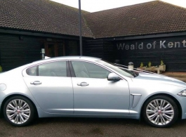 Luxurious Jaguar wedding car for hire in Rye