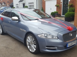 Modern Jaguar XJ for weddings in Ashford