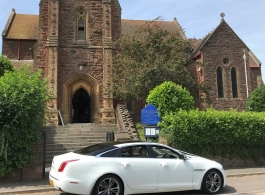 XJ Jaguar wedding car hire in Launceston