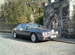 Modern Jaguar XJ6 for weddings in Rochester