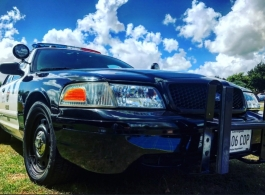 Classic American police car for weddings in Guildford