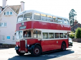 Vintage wedding bus hire in Taunton