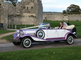 Vintage Wedding car in Southampton