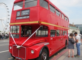 Classic Routemaster Bus for wedding hire in Gloucester