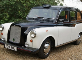 Black and White London Taxi for weddings in Windsor