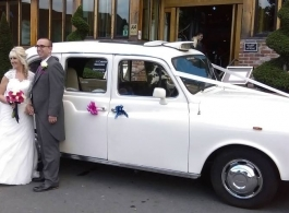 Classic London Taxi for weddings in Chichester