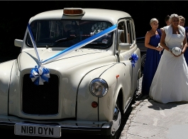 White London Taxi for weddings in Reading