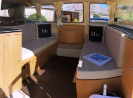 VW Splitscreen Campervan for weddings in Hayling Island