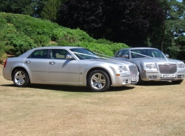 Silver Chrysler 300c for weddings in Basingstoke