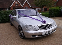 Silver Mercedes S 500 for weddings in Kent