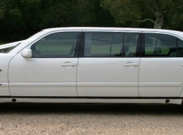 White Mercedes for wedding hire in Bournemouth