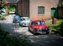 Classic minis in Newcastle Under Lyme