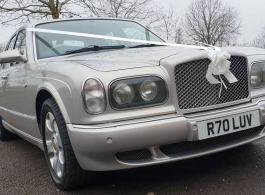 Silver Bentley for weddings in Birmingham