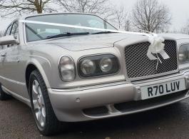 Silver Bentley for weddings in Birmingham