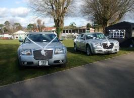 Modern Chrysler 300 wedding car in Arundel