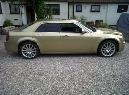 Gold wedding car hire in Hythe