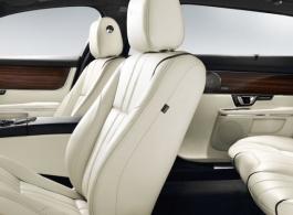 Grey Blue Jaguar XJ for weddings in Sandwich