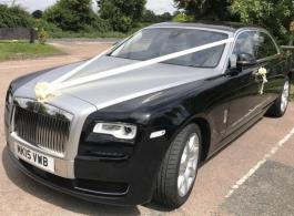 Black and silver Rolls Royce wedding car in London