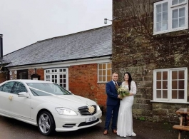 White Mercedes for wedding hire in Swindon