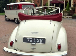 Morris Minor for weddings in Horsham