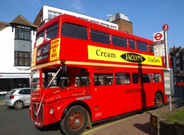 Classic London Bus for wedding hire in Leatherhead