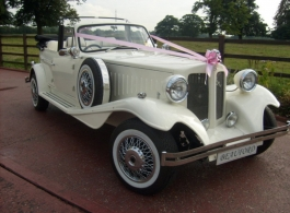 White Beauford wedding car hire in Watford