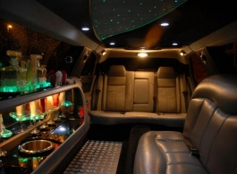 White stretch limousine for wedding hire in London