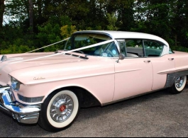 Pink Cadillac for weddings in Crawley
