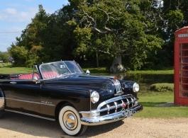 Classic 1950 American wedding car hire in Christchurch