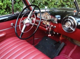 Black American convertible wedding car in Brockenhurst
