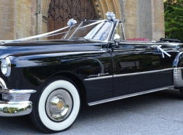 1950 Pontiac convertible for weddings in Poole
